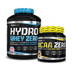 BioTech Hydro Whey Zero - 1816g + BCAA Flash ZERO - 360g [GRATIS]
