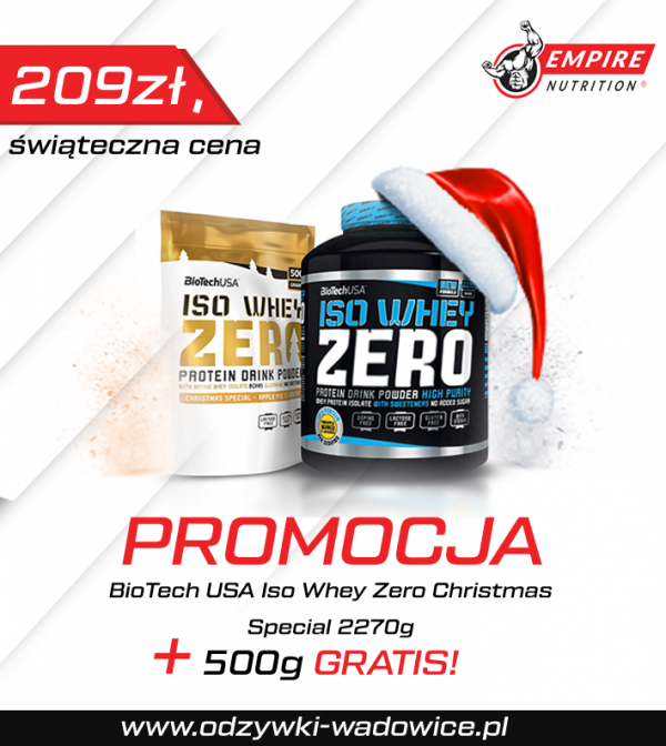 BIOTECH ISO WHEY ZERO – 2270G + 500 G ( Promocja)